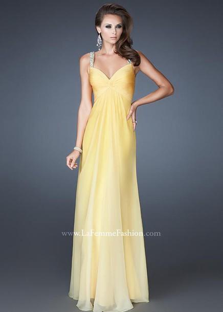 dress la femme prom dresses la femme prom dress long dress yellow dress prom dress