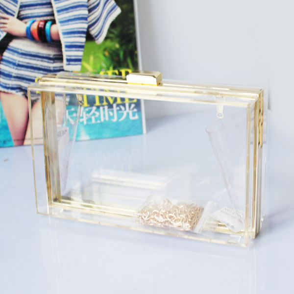 2013 women transparent acrylic perspex clutch clear purse evening bag handbags