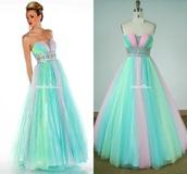 dress,rainbow dress,rainbow color ball gown,tulle ball gown prom dress,princess rainbow ball gown,prom 2k15,prom 2k16,colourful wedding dress,pinkyprom