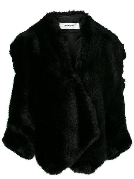 jacket open women black