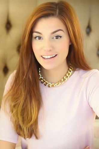 blouse pink light pink pastel cutiepiemarzia marzia necklace gold chain gold chain