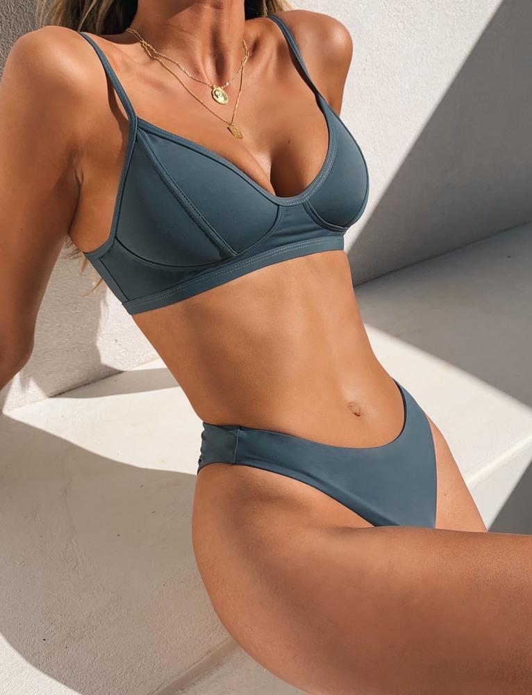 Majorca Bikini Top - Steel - XS GREY