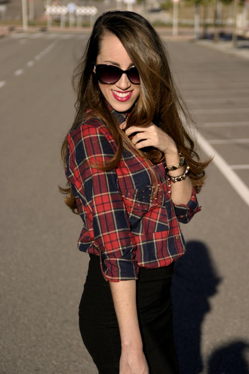 Check Shirt With Stud Pocket | Choies