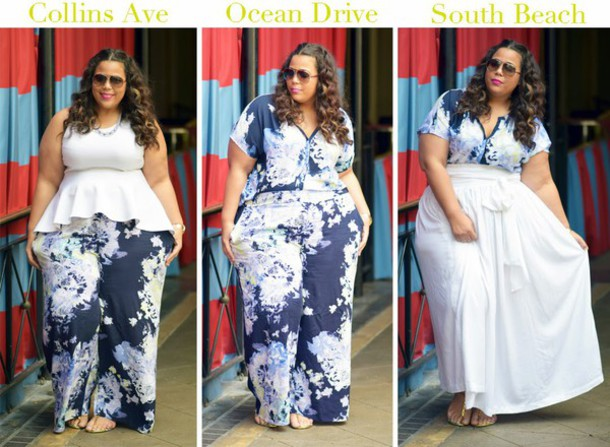 garner style blogger curvy plus size pants floral peplum printed pants top pants skirt shoes sunglasses