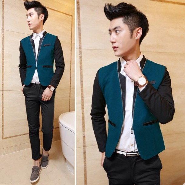 Coat Kpop Asian Kstyle Asian Swag Boy Menswear Korean Fashion Korean Fashion Korean ...