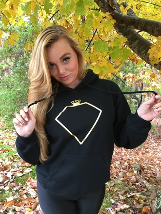 sweater black gold hoodie cute sweatshirt empress royalty glamour comfy