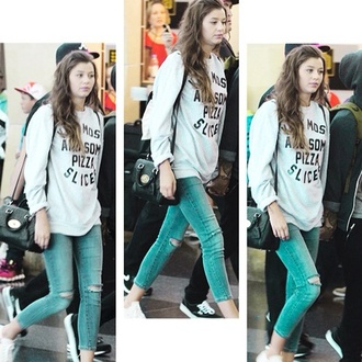 jeans eleanor calder blue one direction sweater