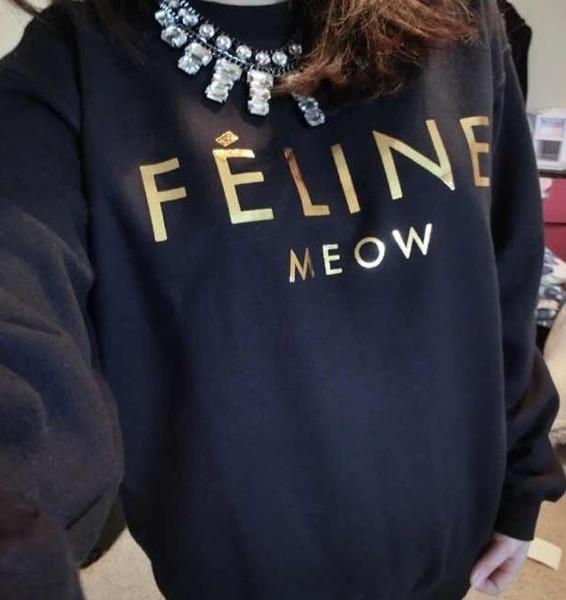 FELINE Meow Sweater – Glamzelle
