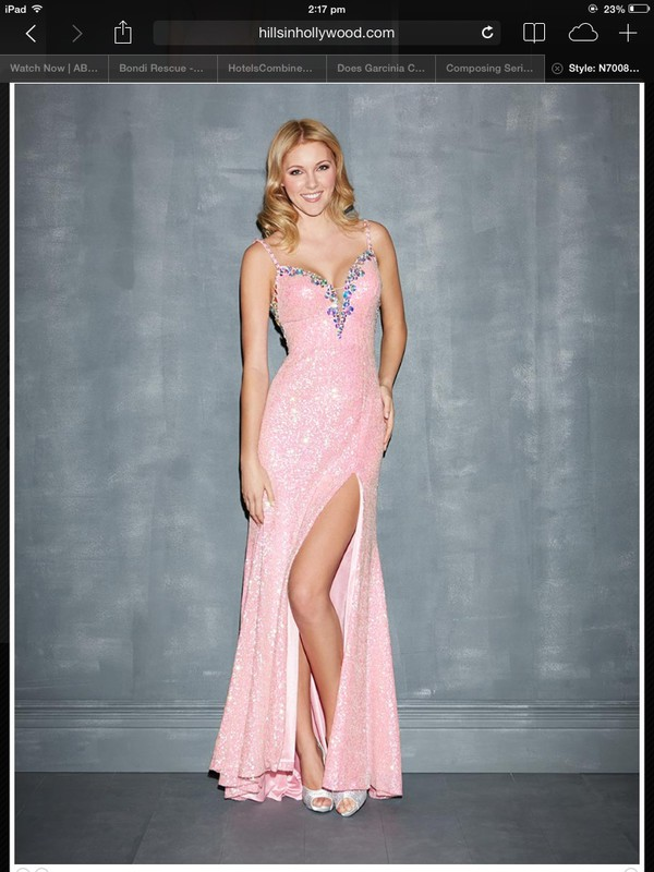 7008 Night Moves by Allure 2014 Prom Dresses - Light Pink Sequin ...