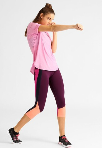 top oversized top pink pink top sportswear sports top gap