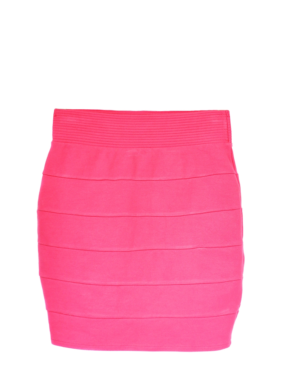 Neon pink stretch cotton jersey skirt size 36