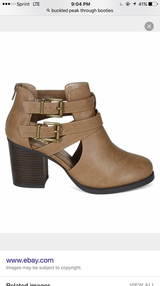 shoes taupe booties cutout booties brown booties tan booties