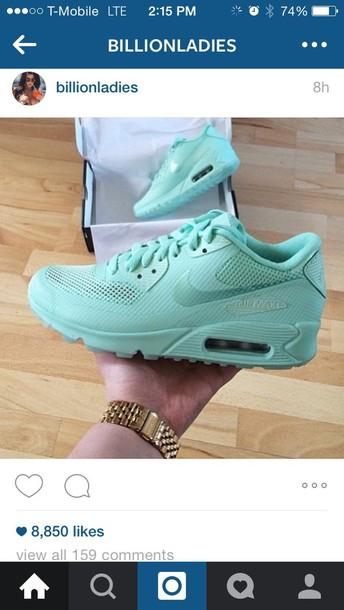 wholesale dealer 6ba15 7eee8 dress mint nike air mint green shoes fashion shoes style pop art nike air  max