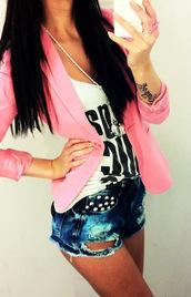 jacket,blazer,pink
