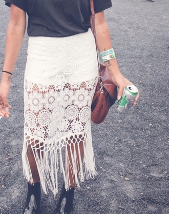 skirt crochet coachella boho