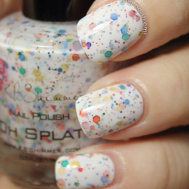 nail polish, nail art, etsy, nails, nail art, bright colored nail ...