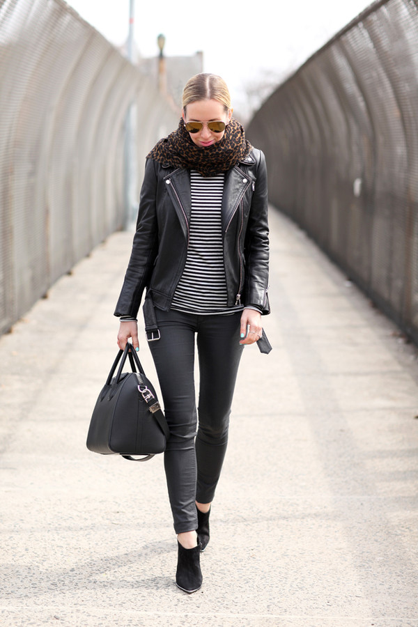 brooklyn blonde jacket shirt pants shoes bag scarf