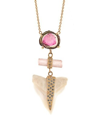 shark necklace gold necklace gold yellow jewels