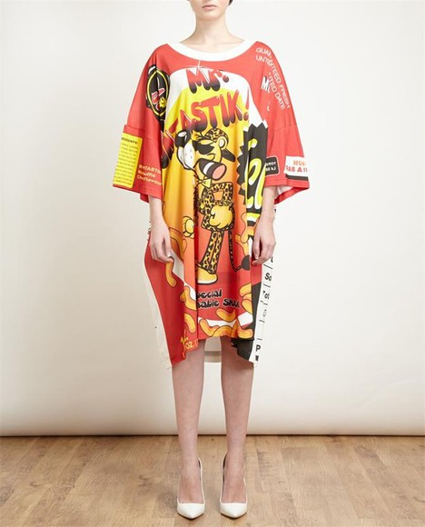 oversized dress mr. funtastik cotton t-shirt dress t-shirt dress moschino moschino dress printed cotton t-shirt dress round neckline