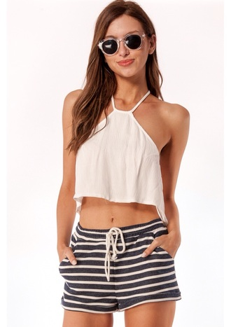shorts stripes beach summer navy white