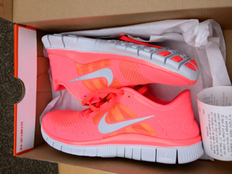 shoes nike pink orange nike running shoes running shoes running sportswear style nike free run nike free coral