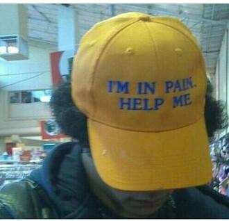 hat tumblr yellow dad hat soft grunge grunge ghetto soft ghetto pale kawaii soft pale baseball cap