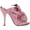 No21 - glitter effect sandals - women - leather/pvc - 37, pink/purple, leather/pvc