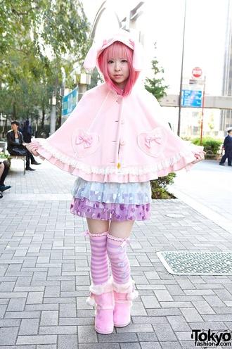 cardigan bunny kawaii kawaiicute pink bow cute fairy kei
