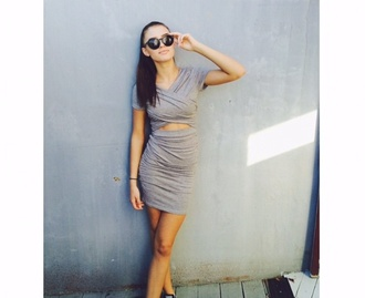 classy dress bodycon dress cut-out light simple short stylish trends