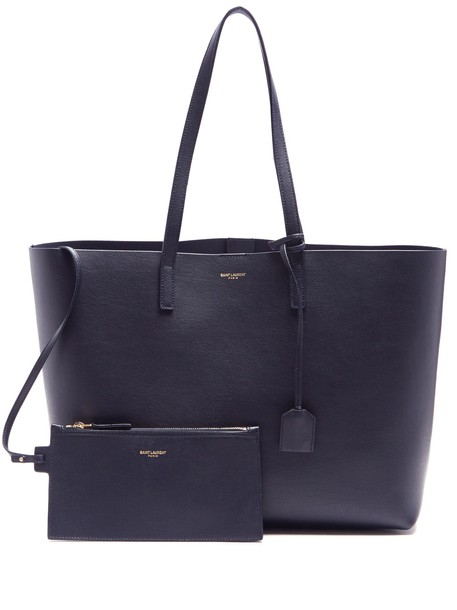 Saint Laurent leather navy bag