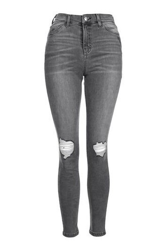 jeans ripped grey