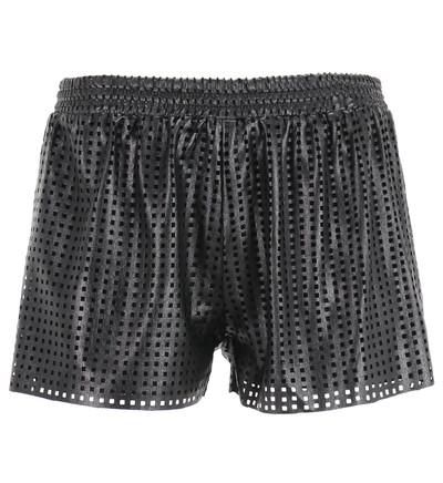 Mini short effet cuir ajouré carré Suncoo Noir pour Femme - Galerieslafayette.com