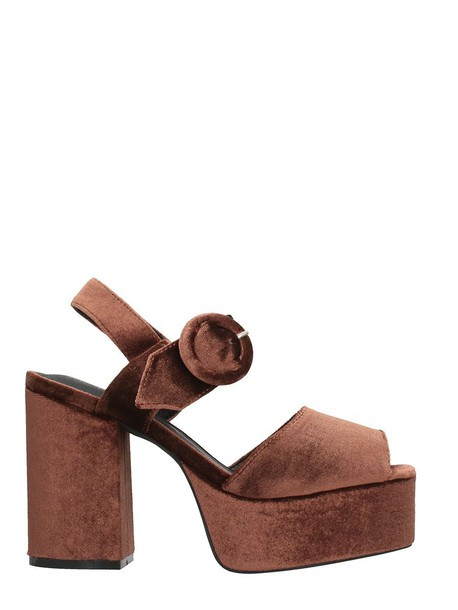 velvet sandals sandals velvet brown shoes