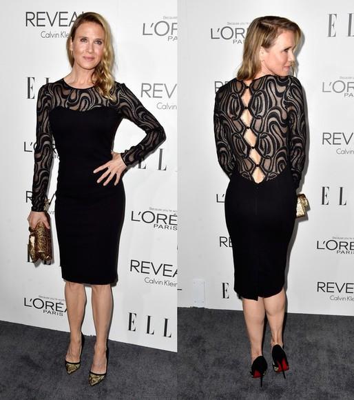 dress lace dress renee zellweger little black dress