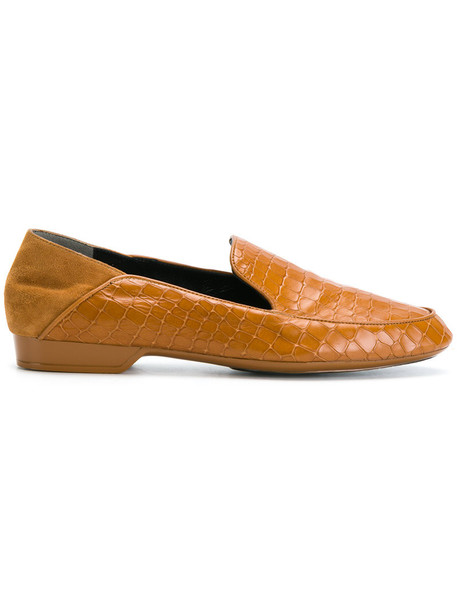 Robert Clergerie women loafers leather brown shoes