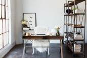 home accessory,home office,home decor,desk,chair,flowers