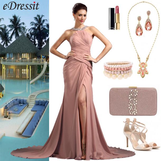 53a0cb70321 dress edressit beach wedding pink evening dress formal dress