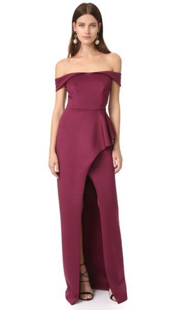 Black Halo Padma Dress - Syrah