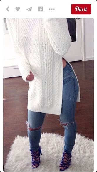 sweater white sweater white top white shirt long sleeves fall sweater fall outfits outfit winter sweater