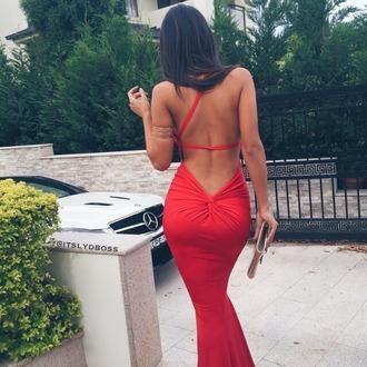 dress red dress sexy dress gorgeous amazing deep v back deep v dress sexy red dress sexy red