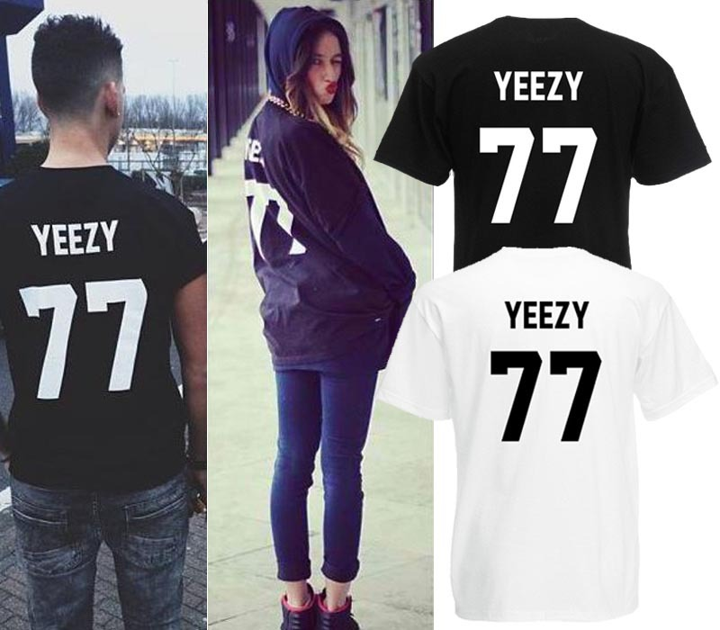 French logo YEEZY 77 100% Cotton men t shirt HBA PYREX 23 fashion man's tops& tees hip hop short sleeve lovers clothes 1-in T-Shirts from Apparel & Accessories on Aliexpress.com