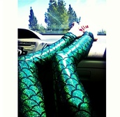 pants,mermaid,scales,fish scales,mermaid tail,green,sparkle,cool