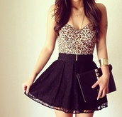 skirt,black,lace,shirt,blouse,t-shirt,top,jewels,dress,leopard dress,little black dress,leopard print,lace dress,cute dress,leopard print dress,black skirt,cocktail dress,leopard bustier,sexy,lace skater skirt,skater skirt,mini dress,short dress,panther,strapless,purple,asymmetrical,polka dots,outfit,animal print,tights,colorful,clothes,crop tops,cute,jupe,camisole,bustier,bustier top,lace skirt,bracelet watch,summer outfits,watch,lovely,leopard crop top with blackk skater skirt,bag,short,studs,leopard print top,black skater skirt