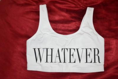 Victorias Secret Pink Tank Top Crop Shelf Bra Yoga Cotton White Whatever L New | eBay