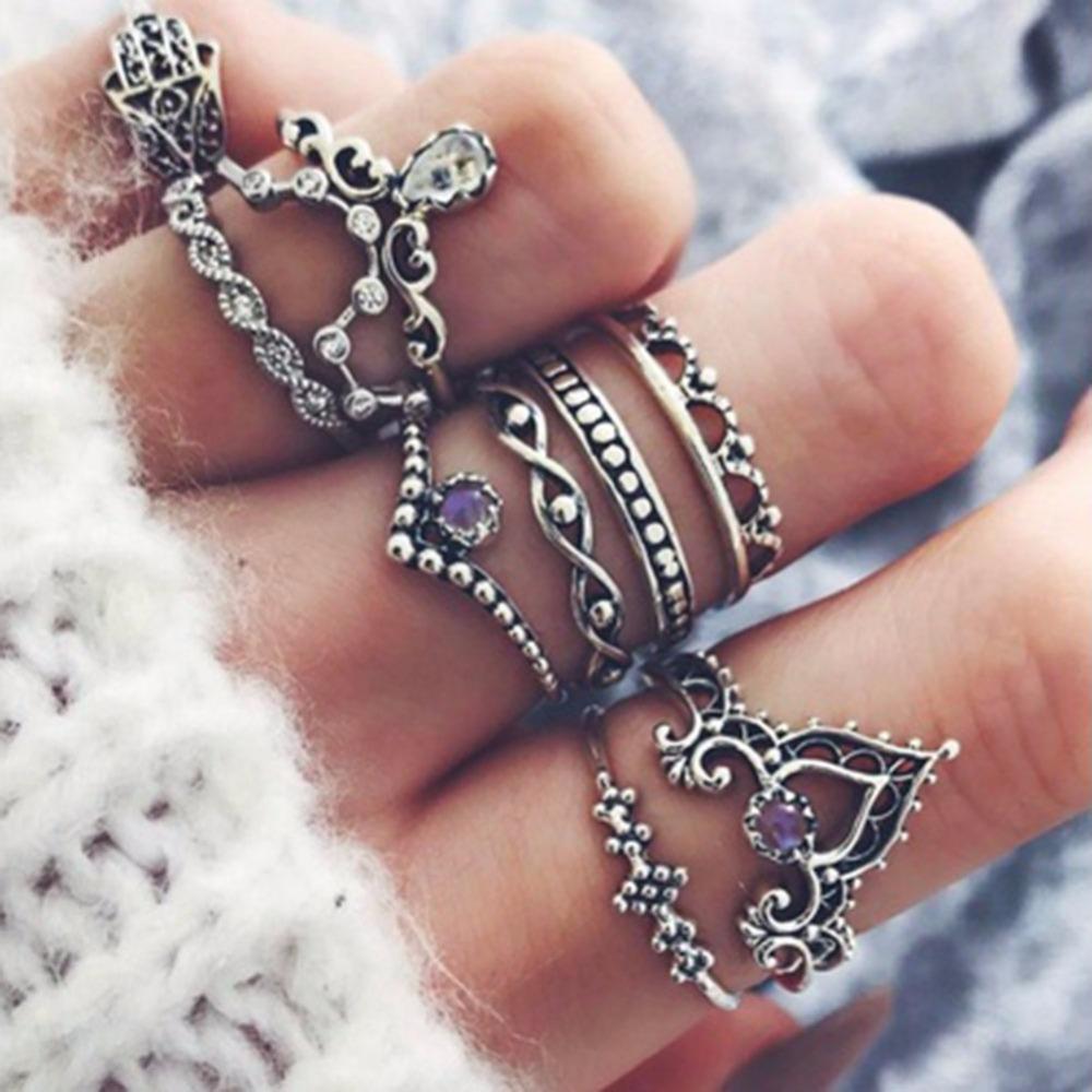 חמה למכירה 10 יח'\סט וינטג טבעת סטי תכשיטי טבעות בוהמית פטימה יד אצבע כתר חלול סגולה #244497 ב-חמה למכירה 10 יח'\סט וינטג טבעת סטי תכשיטי טבעות בוהמית פטימה יד אצבע כתר חלול סגולה #244497 מתוך טבעות באתר AliExpress.com | Alibaba Group