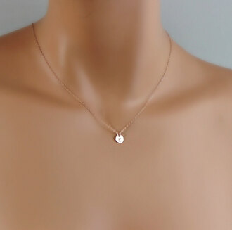 jewels small trendy necklace rose gold cute tiny tumblr accessories jewelry gold necklace rose gold necklace