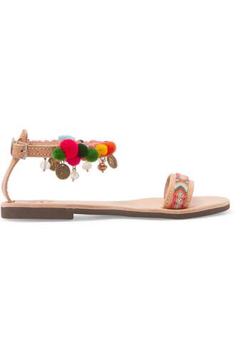 embellished sandals leather sandals leather shoes