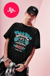 t-shirt,musers,muser shirt,lisa and lena,lisa and lena the shirt,black dress lisaandlena,musically,musical ly,red and white musically shirt,muser