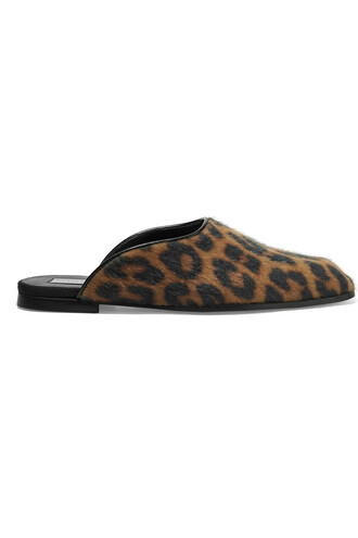 hair slippers print leopard print shoes