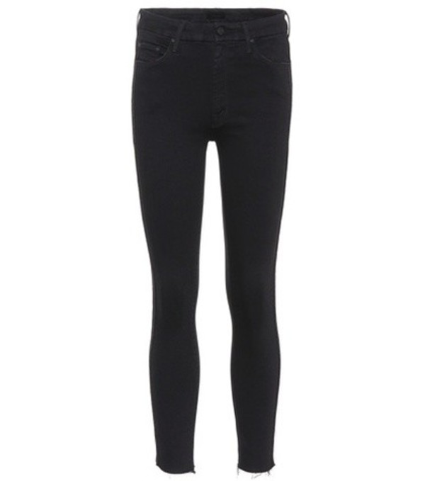 Mother Looker Ankle Fray skinny jeans in black